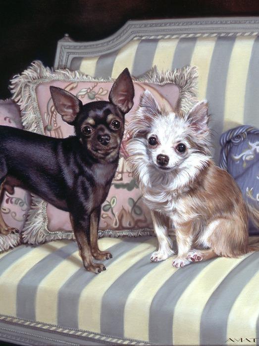 Собачки от художницы Michele Amatrula. (523x699, 115Kb)
