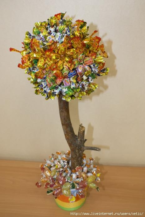 28Как сделать конфетное дерево