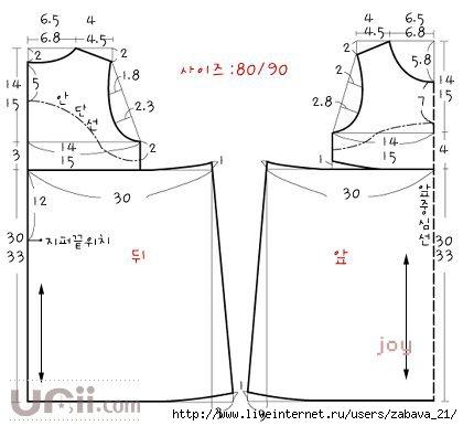 Как построить выкройку платья на 6 лет