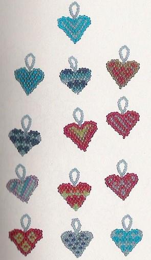 Сердце из бисера буквы алфавита.