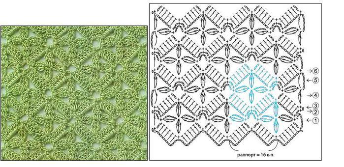 Схемы узоров - для вязания крючком. узоров.  Узоров всегда не хватает, особенно, когда задумывается вещь, для.