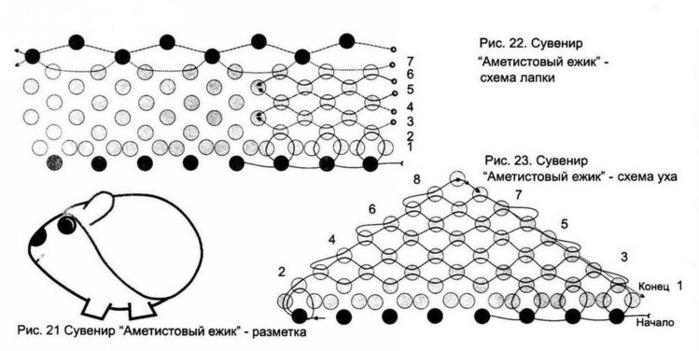 поделки из бисера схемы для начинающих. бисера схемы животных.
