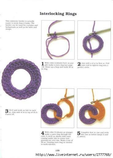 Интересная идея - полоски из колечек, можно связать плед или коврик...