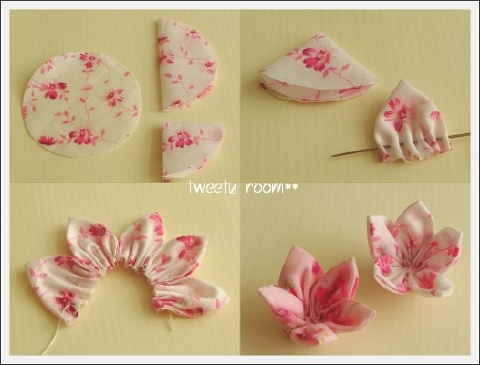 Как делать цветы из ткани своими руками