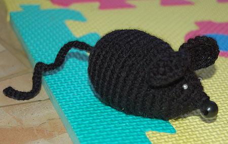 мышка схема вязания крючком