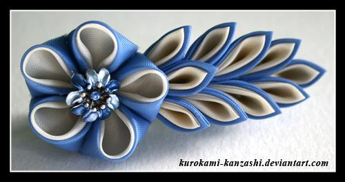Искусство изготовления канзаши (Kanzashi) - украшений из лент, ткани.
