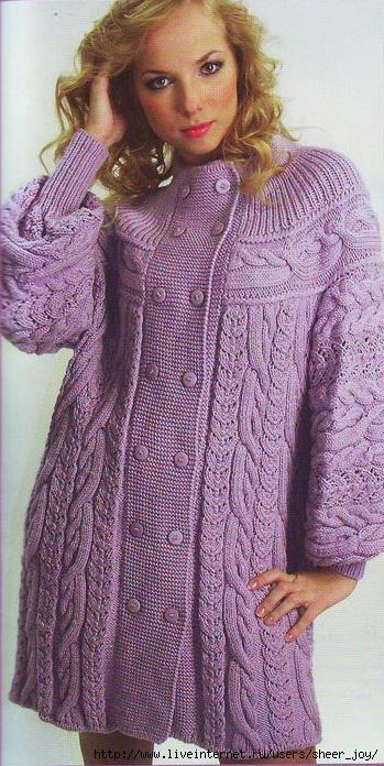 ...Вязание узора плетенка спицами и Вязание на спицах покрывала пледы.