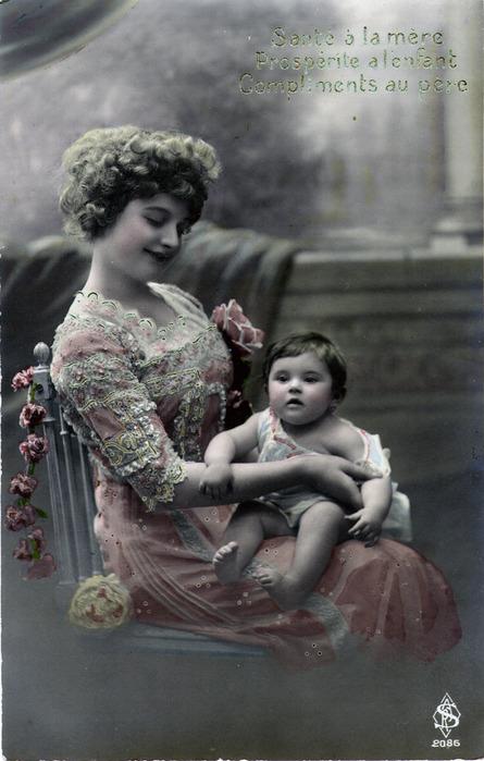 Фото открытки мама с младенцем, зека днюхой открыткой