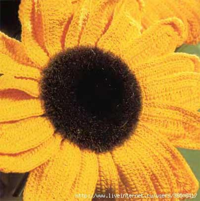 Sonya.  68. Начинаем собирать цветочную коллекцию Вот подсолнух.  Яркое солнышко, напоминает о теплом лете.
