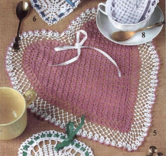 Комментарий: овальные салфетки скатерти вязанные крючком.