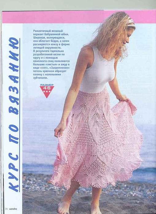 Вязаные юбки крючком схемы - Вязание.