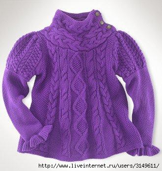 свитер для девочки года вязание на спицах схема, вязаные крючком.