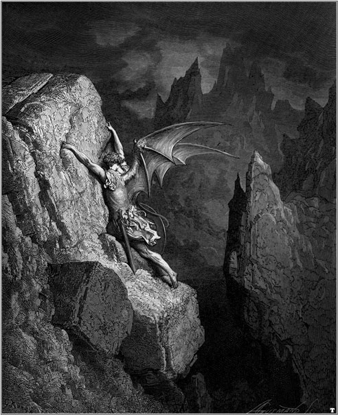 the fall of satan in john miltons paradise lost A line by line paraphrase of milton's poem in plain english i paradise lost in plain english or what more lost in hell so satan spake.