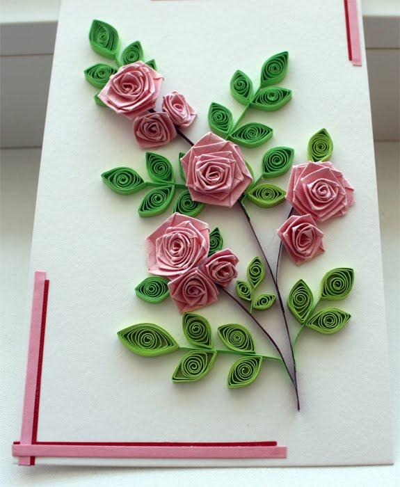 Розы открытки квиллинг, рождеству христову картинки