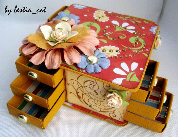 Шкатулка из спичечных коробков мастер класс с фото #6