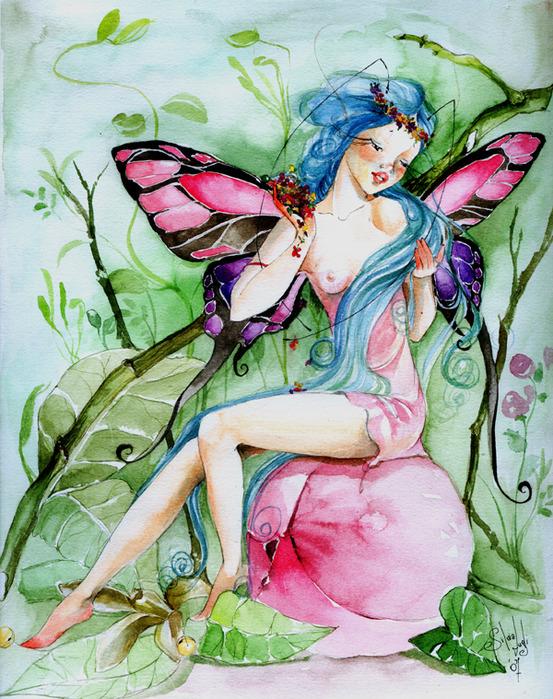сердечками картинки акварелью о феях так они способны