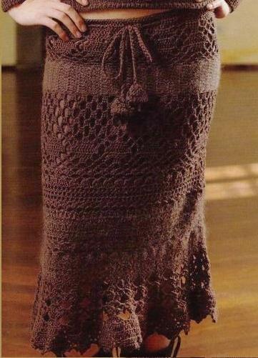 вязаные длинные юбки крючком схемы. вязаные юбки платья костюмы спицами...