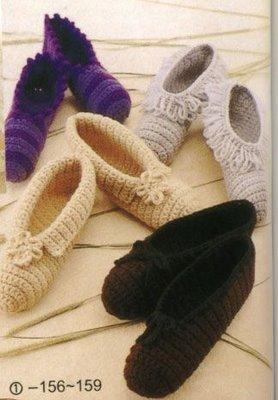 Домашние тапочки - тапочки вязание спицы.