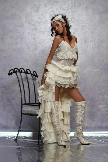 Верх: бретельки.  Свадебное платье трансформер.  Артикул: СП410.