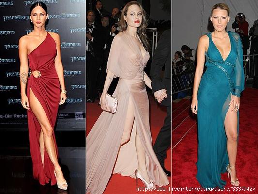...вечерних платьях с глубоким разрезом вдоль бедра бесспорно сексуальны...