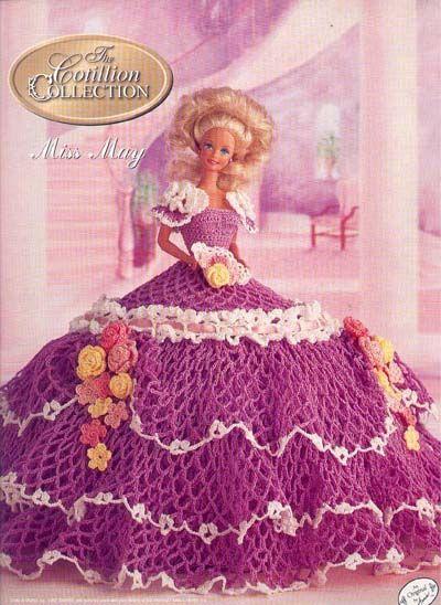 Рубрики Вязание крючком, Нарядные платья.  Размер: для пластиковых или...