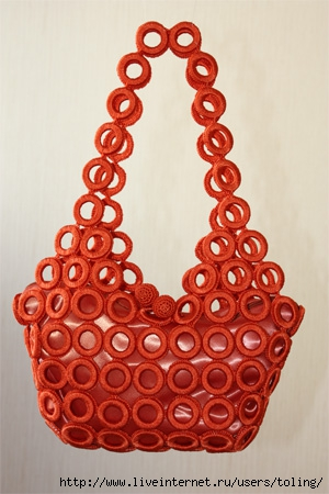 схема плетения из макраме сумки.