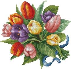 """Схема вышивки  """"Тюльпаны """""""