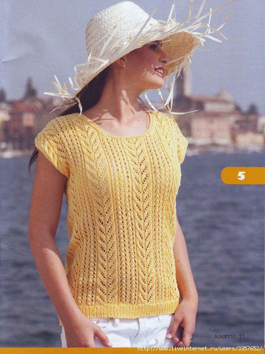 0. Ажурный пуловер. в цитатник. вязание для женщин спицы.