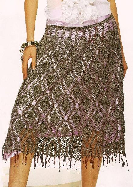 Комментарий: схема юбка вязание крючком.