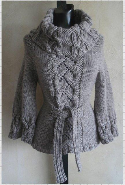 вязанные шерстяные свитера своими. вязаные кофты спицами с описанием...