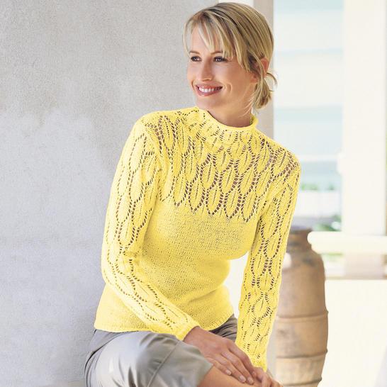 Часть 49 - Пуловер с ажурными рукавами и кокеткой. пуловер. женское.