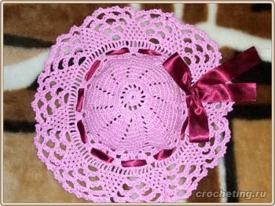схемы вязания крючком детских шляпок