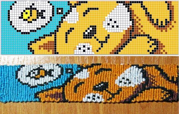 Фенечки схемы прямого плетения, прямое плетение фенечек из мулине.