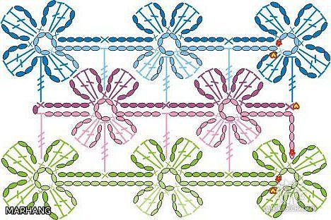 Вязание крючком - Схемы, узоры вязания, вязание спицами из ангоры.