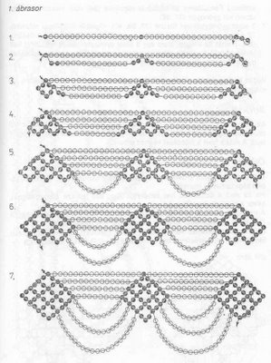 Схема колье которое можно одеть и на свадьбу, и на вечер (если оно будет...