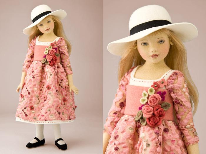 Она создет потрясающей красоты войлочные шарнирные куклы, которые можно...