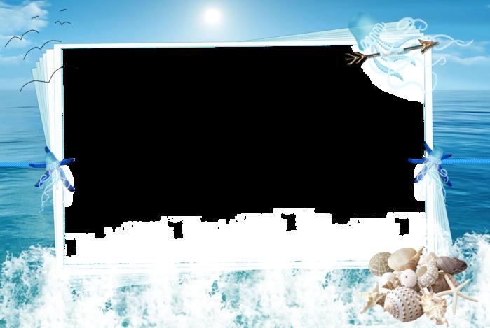 Днем, рамка для открытки морская тема
