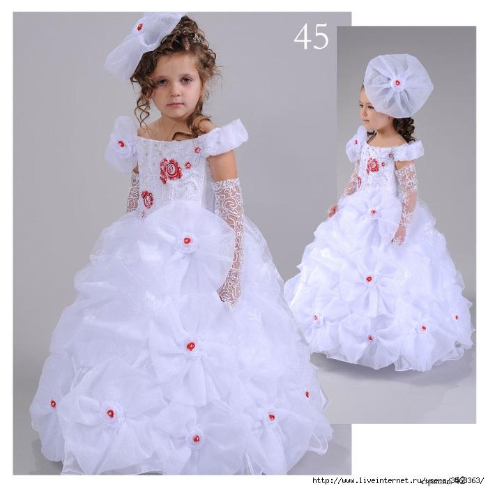 Детские нарядные бальные праздничные платья для девочек.