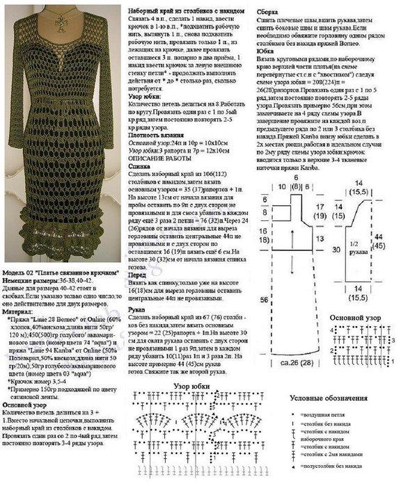 Вязали на Осинке Платье из ниточек Rotonda от Lana Grossa, выглядит как...