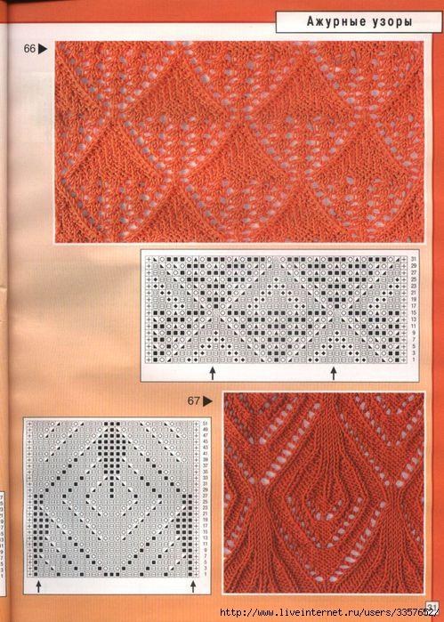 Вязание крючком, вязание спицами, схемы вязания - ажурная кофта из.