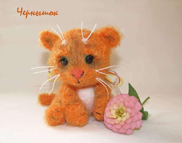 Мои игрушки/Вязаные.  Жанет.  Осенний котёнок . автор Чернышова Анна.