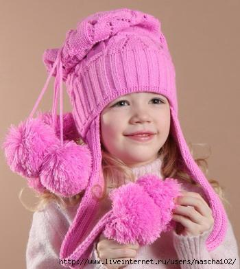 домашнее рукоделие шапочки спицами для малышей