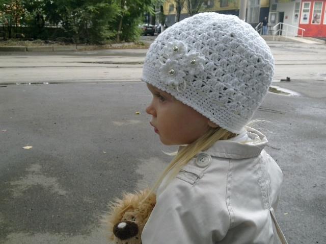 Шапочка осенне-весенняя, вязание крючком для начинающих, crochet.