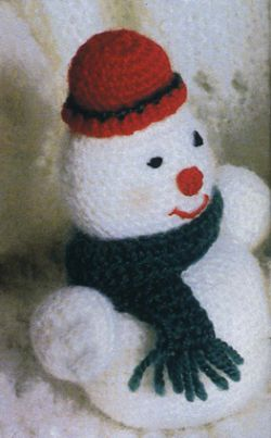 как связать снеговика, вязанные новогодние игрушки.