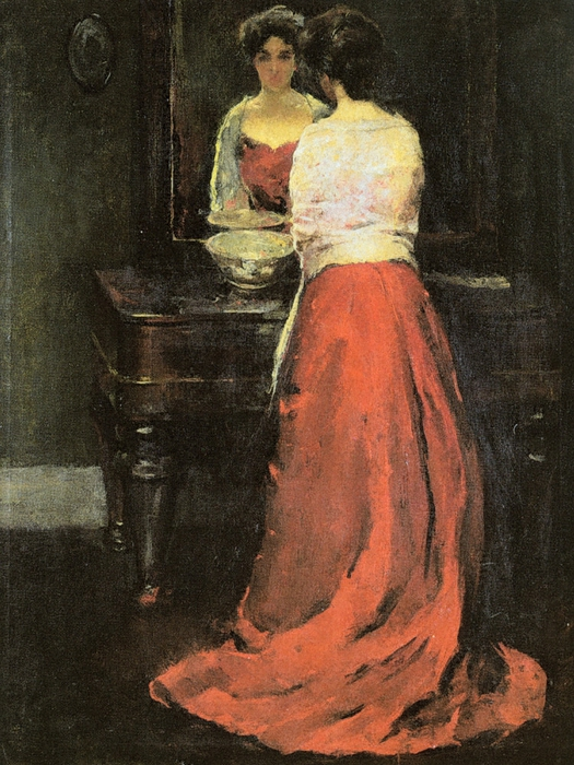 Hawthorne_Charles_Webster_Lady_in_Red_ (525x700, 325Kb)