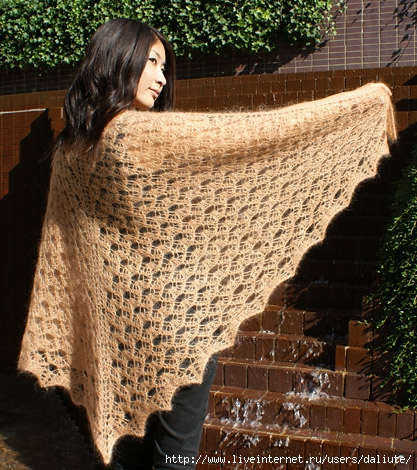 GOLD NUGGET SHAWL by Shui Kuen Kozinski (417x470, 219Kb)
