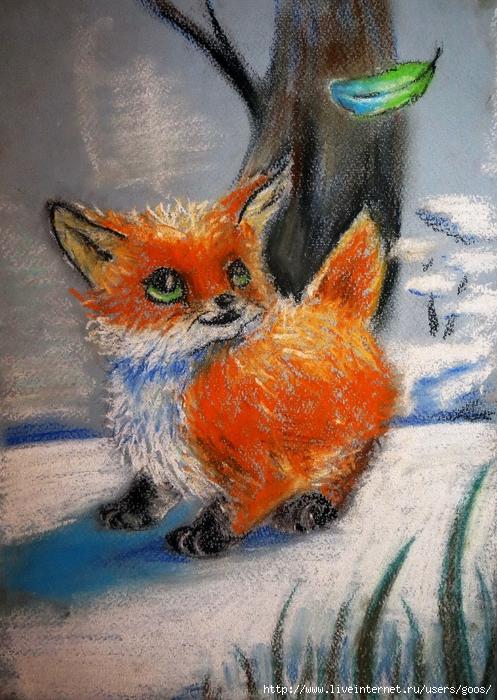 савченко, картинки сухой пастелью животные прежде