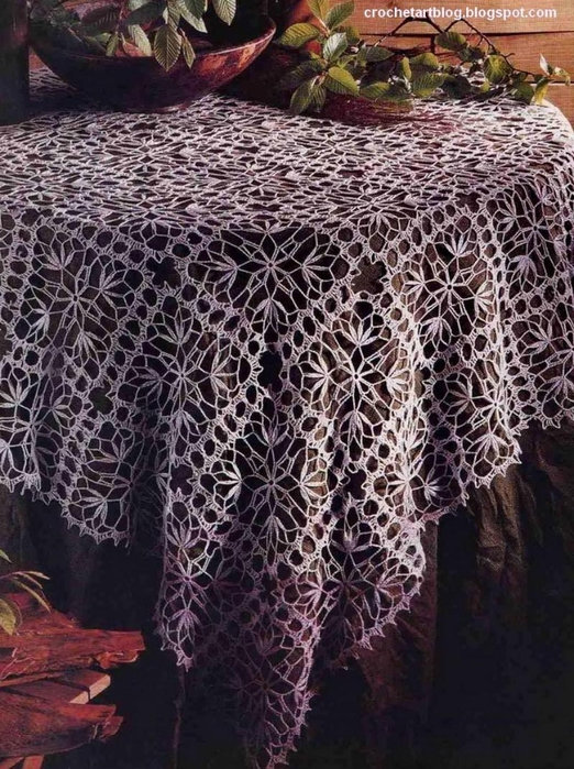 lace tablecloth Decorative Crochet (522x700, 331Kb)