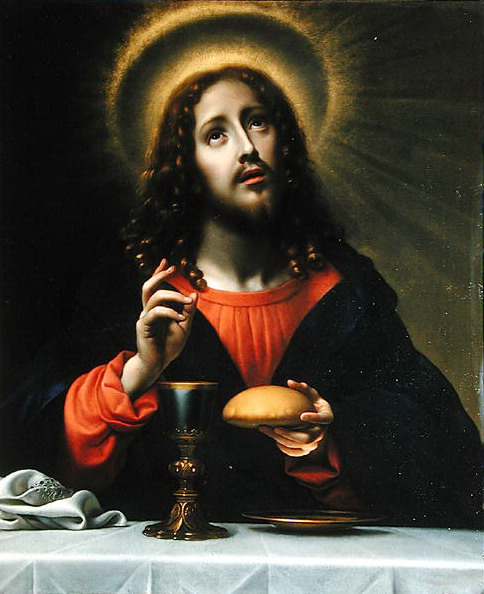 Christ Blessing the Sacraments  Carlo Dolci (484x594, 80Kb)