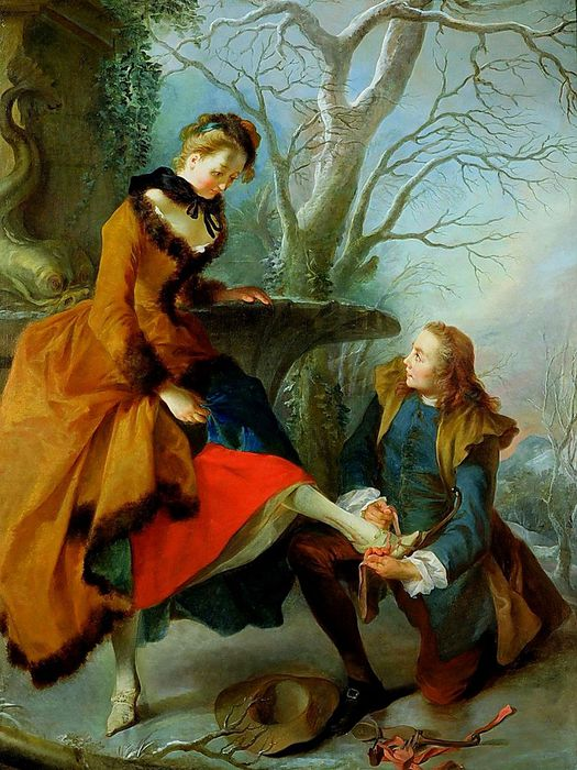 2Nicolas Lancret Fastening. The Skate (525x700, 91Kb)